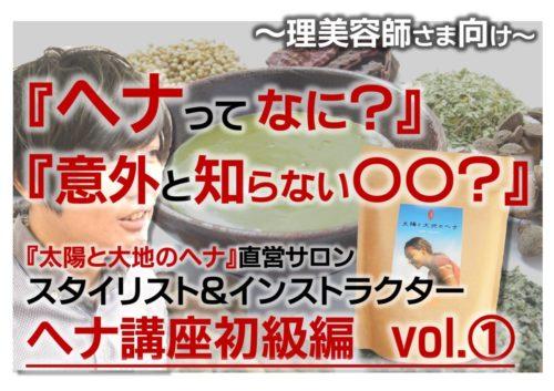 ヘナセミナー初級編【Youtube動画①】